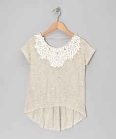 Take a look at this Ivory Crocheted Top by Kiddo by Katie on #zulily today!