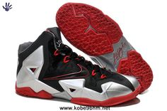 New Nike Lebron XI 11 Black Silver Red