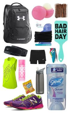 A fashion look from April 2015 featuring NIKE activewear tops, NIKE activewear shorts and New Balance athletic shoes. Browse and shop related looks. Track Bag, Running Track, Track Workout, Running Tips, Track Meet, Gym Bag Essentials, Cheer Workouts, Divas, Cross Country Running