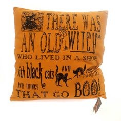 Halloween Witch Poem Pillow Halloween Accent Pillow Height: 18 Inches Material…