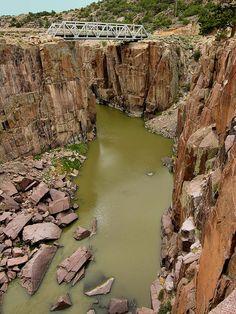 ✮ The North Platte River flows through Fremont Canyon near Casper, Wyoming