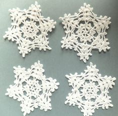 Christmas snowflakes, crocheted