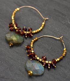 Hoop Earrings by MatanaJewelry on Etsy