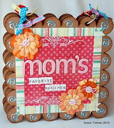 Clear Scraps Chipboard Album - Scrapbook.com - Mom's Favorite Recipes Mini Album - #scrapbooking #minialbums #clearscraps