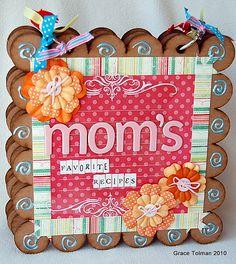 Clear Scraps Chipboard Album - Scrapbook.com - Mom's Favorite Recipes Mini Album - #scrapbooking #minialbums #clearscraps