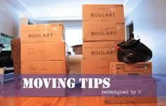 Reorganized Moving Tips