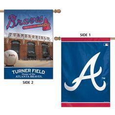"""MLB Atlanta Braves 2 Sided Vertical Flag, 28 x 40""""   Jet.com"""