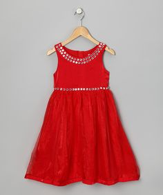 Paulinie Red Jeweled Dress - Girls | Daily deals for moms, babies and kids