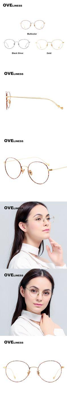 2017 Metal Eyeglasses Frames Women vintage prescription Optical Eyeglass Round Frame Clear Lens Reading Glasses myopia eyewear