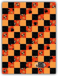 Spooky Pets Pre-Cut Quilt Kit Blocks