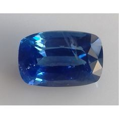 4.11 Ct Ceylon Natural VVS Blue Sapphire Rectangular Cushion Shape Certified Gemstone