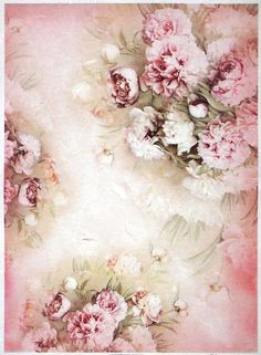 £3.2 GBP - Rice Paper For Decoupage Scrapbook Craft Sheet A/3 Rose And White Peonies #ebay #Home & Garden