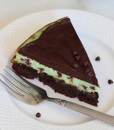 Mint chocolate chip brownie cheesecake 11