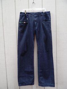 "Diesil  Men's jeans tamaox dark wash wide leg inseam 33.5"" sz 34  Italy #Notspecified #wideleg"