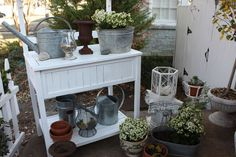 Victoria Magazine January Copycat Challenge: A Timeless Display for a Potting Bench