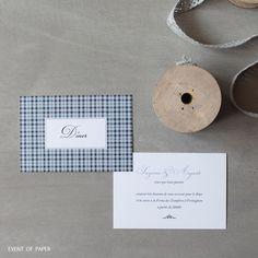 Carton dîner de mariage bleu british SUZANNE ET AUGUSTE