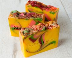 Sunset Handmade Soap. All Natural Organic by SopranoLabs