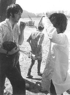 Paul and John in India 1968