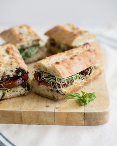 #Vegan Caprese Sandwiches with Garlic Cashew Cheese