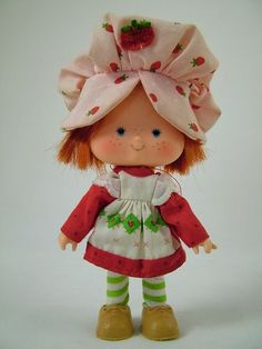 Strawberry Shortcake, my she's looking swell. Cute little doll with a strawberry smell.