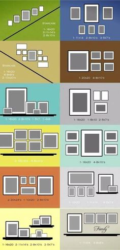 Gallery wall layout ideas for pictures and decor items to hang on your focus display wall in your home