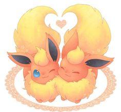 Flareon love is so hot. (No pun intended) Pokemon Flareon, Eevee Evolutions, Fotos Do Pokemon, All Pokemon, Pokemon Fan Art, Cute Animal Drawings, Cute Drawings, Manga Pokémon, Pokemon Mignon