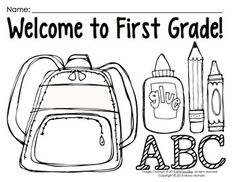This is an image of Agile back to school coloring pages for first grade