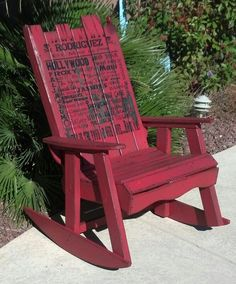 Rocking chair made from pallets #pallet #rocking #chair