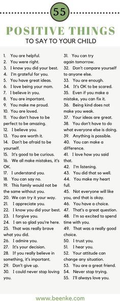 55 Positive Things To Say To Your Child As parents, the way we speak to our children is incredibly important. Words can build kids up, and they can just as easily tear them down. Check out our list of 55 positive things to say to your child on Parenting Advice, Kids And Parenting, Parenting Classes, Peaceful Parenting, Foster Parenting, Natural Parenting, Parenting Styles, Parenting Humor, Attachment Parenting Quotes