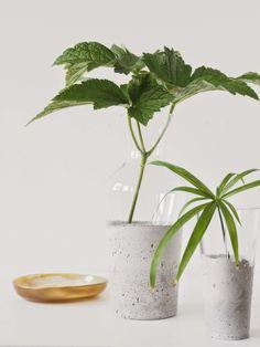 DIY Vases ciment Monster Circus via Nat et nature