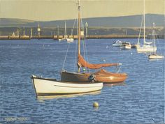 Martin Swan (1951- ), Lymington Harbour (2012), oil on canvas, 30.5 x 40.6cm.