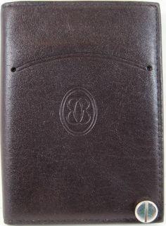 Black Credit Card Window ID Genuine Leather Holder Wallet Clear Sleeves Men Lady