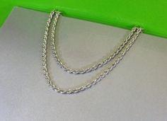 Vintage Collier Kordelkette Kette Silber 925 HK197 von Schmuckbaron