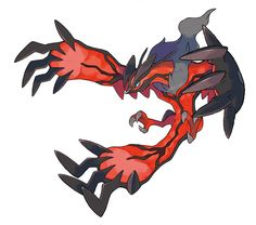 "Yveltal, one of the legendary pokémon from ""Pokémon X / Y,"" released for the Nintendo 3DS by Game Freak / Nintendo in 2013"
