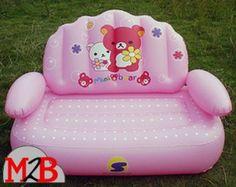 canape gonflable rose pour enfants