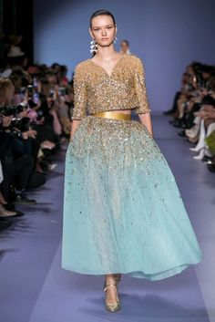 Georges Hobeika Spring Summer 2020 Haute Couture fashion show at Paris Couture Week (January Fashion Week Paris, Live Fashion, Fashion 2020, Runway Fashion, Fashion Show, Latest Fashion, Fashion Spring, Gothic Fashion, Indian Fashion