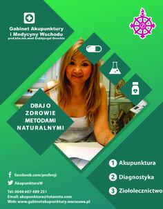 Gabinet Akupunktury - folder reklamowy