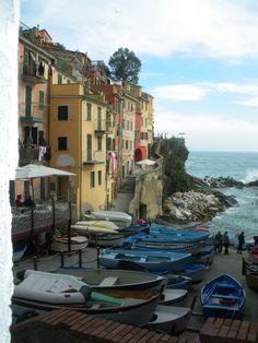 Riomaggiore ~ where we stayed in The Cinque Terre