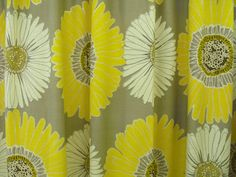 Fabric shower curtain by LaTeDaWindows on Etsy