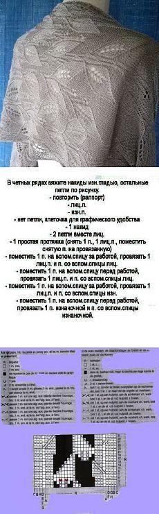 """Палантин """"Традесканция"""""""