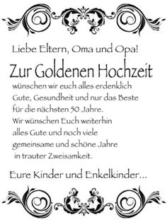 Goldene Hochzeit Spruche Gluckwunsche Zur Goldenen Hochzeit