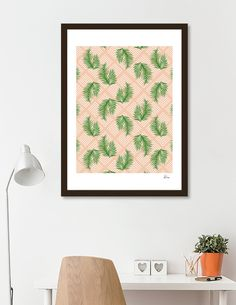 Discover «Geometries & Palms», Numbered Edition Fine Art Print by DesigndN - From 18€ - Curioos