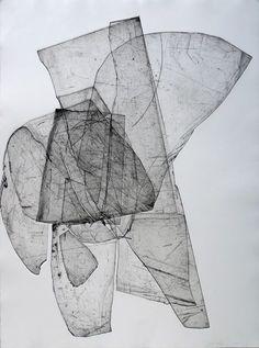 Batholith Etching, Monoprint #A-4, 2010, by Eben Goff