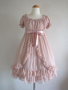 Unknown Indie Brand | Chiffon Babydoll OP in Pink