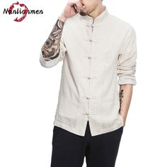 24a090638d2c 2017 New Chinese Linen Shirts Men Camisa Social Masculina Slim Fit Chemise  Homme Manche Longue Mens Long Sleeve Shirt Casual