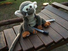 Vi kom forbi nogle mega seje musikinstrumenter, hvor vi spillede en masse sjov musik. Fidusen ville også spille med.