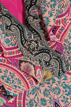 Etro - Sequin-embellished Paisley-print Silk Gown - Pink - IT44