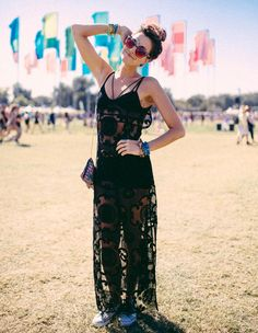 acl festival style look total black