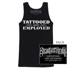 Steadfast Brand :: Mens :: Men's Tattooed and Employed Tank Top