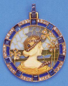 LALIQUE plique a jour enamel and jewels
